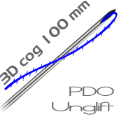 UNGLIFT PDO - -  100 mm 3D cog tracci�n pack 10 hilos
